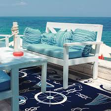 photo 2 of 4 image of blue nautical outdoor rugs outdoor nautical rugs 2