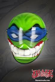 ninja turtle tmnt airbrushed custom motorcycle helmet