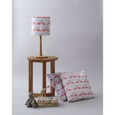 Flamingo Flourish Lampshade Ice Blue Look Lane