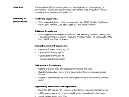 Studio Recording Engineer Sample Resume Wondrous Music Recording Engineer Sample Resume Very Attractive 20