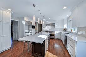 view larger image kitchen remodeling ideas dark cabinetry white quartz aurora naperville il illinois sebring services