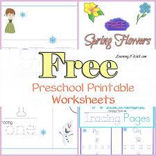FREE PRESCHOOL PRINTABLE WORKSHEETS - Fun Learning Ideas