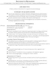 Resume For Managerial Position Resume Objective For Manager Position Emelcotest Com