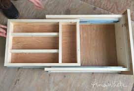 insert smaller drawer into larger drawer now it s time to see if the kitchen utensil drawer is going to actually work if the drawer doesn t slide very