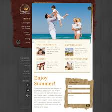 Free Website Template Magnificent Beach Resort Web Template Free Website Templates