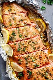 honey garlic er salmon in foil in under 20 minutes then broiled or grilled
