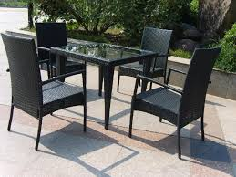 Furniture Ideas Black Wicker Patio Furniture Sets With Small