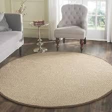 safavieh natural fiber coastal solid sisal maize brown area rug 4 x 4