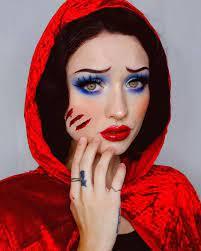 halloween makeup poor lil red riding