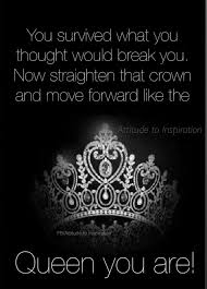 Guess What I Survived Crowned Positive Attitude Quotes Crown