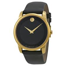 movado museum black dial leather mens watch 0606876 zoom movado movado museum black dial leather mens watch 0606876