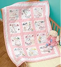Amazon.com: Jack Dempsey Needle Art 30079 Nursery Quilt ... & Jack Dempsey Needle Art 30021 Nursery Girls Quilt Blocks, 12 Quilt Blocks,  9- Adamdwight.com