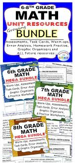 Middle School MATH GROWING BUNDLE {Common Core}   Rational numbers ...