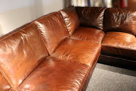 best saddle brown leather sofa 122quot l sectional sofa saddle brown soft italian leather wood frame