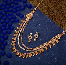 bridal gold necklace designs catalogue simple