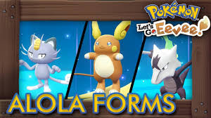 Pokémon Let's Go Pikachu & Eevee - How to Get All Alola Forms - YouTube
