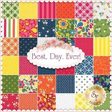Best. Day. Ever! By April Rosenthal For Moda Fabrics - Charm Pack ... & Best. Day. Ever! By April Rosenthal For Moda Fabrics - Charm Pack and 7 FQ  bundle! From Shabby Fabrics at www.sassyquilter.com for Sassy Saturdays. Adamdwight.com