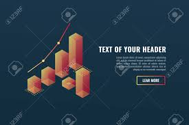 Cool Banner With Charts Data Visualization Concept Growing