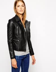 warehouse quilted double leather jacket