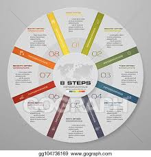 Modern Pie Chart Vector Stock Abstract 8 Steps Modern Pie Chart