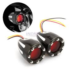 Bullet Led Lights Amazon Com Black Metal Amber Led Lights For Harley Touring
