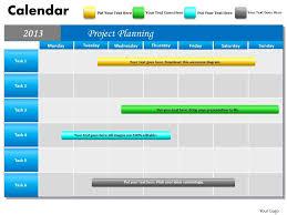 Powerpoint Calendar Template Awesome Project Planning Gantt Chart 48 Calendar PowerPoint Slides PPT