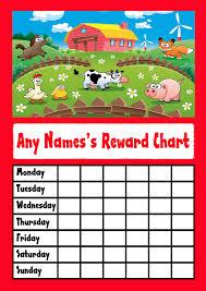 Farm Animals Star Sticker Reward Chart
