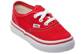 baby boy shoe size 3 vans authentic red toddler kids canvas low top trainers sneakers