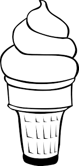 fast food clipart black and white. Plain White Fast Food Desserts Ice Cream Cones Soft Serve Throughout Food Clipart Black And White