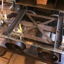 mine cart coffee table an old coal mine cart transformed into a coffee table l ox
