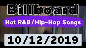 Billboard Top 50 Hot R B Hip Hop Rap Songs October 12 2019