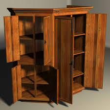 tall cherry wood kitchen pantry