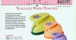 Flower Shaped Paper Punches Kerrys Kaszazz Korner Kaszazz Flower Paper Punches