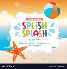Beach Invitation Birthday Card Invitation Summer Fun Splash Beach