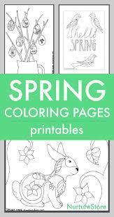 Spring Coloring Sheets Printables For Children Nurturestore