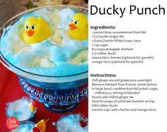 Ducky Punch Minus The Ducks For J  It Tasted Great The Blue Kool Blue Punch For Baby Boy Shower