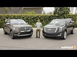 Full Size American Luxury Suv Comparison 2018 Lincoln Navigator Vs 2018 Cadillac Escalade