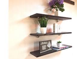 korean floating wall shelf set of three w600mm x d160mm x h20mm board color