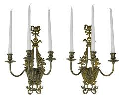 vintage hardware lighting victorian neo rococo pair of candelabrums wall sconces candle holders ant 401