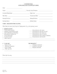 Employee Exit Interview Checklist Interview Checklist Template
