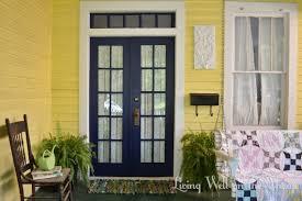 white front door yellow house. Yellow House Blue Door Navy Front Door. Composite Installedcove White
