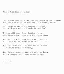 best acirc curren poet ponderings acirc curren images poetry quotes there will come soft rain sara teasdale