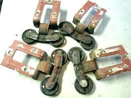 barn door rollers antique 2 pair vintage wheels diy roller slidi