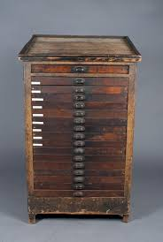 A Fine American 17 Drawer Printers Cabinet