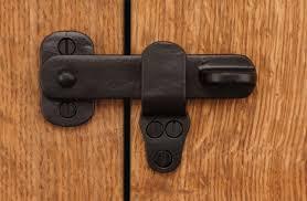 4 Back Flip Sliding Barn Door Gate Latch Lock Solid Brass Rust
