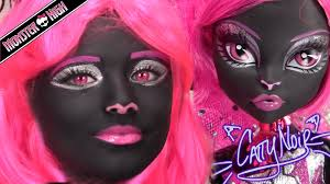 monster high catty noir doll costume makeup tutorial for halloween or cosplay kittiesmama you