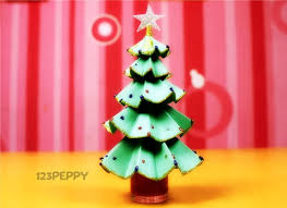 How To Make Glittering Christmas Tree Online 123PeppycomChristmas Crafts Online