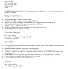 Data Entry Resume Stunning 60 Free Sample Data Entry Operator Resumes Best Resumes 60