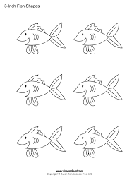 Easy Free Fish Templates Timely Patterns Print 9036 Unknown