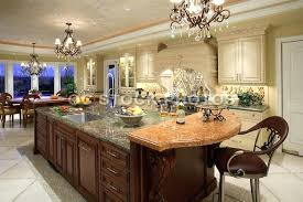 black kitchen chandelier over brown marble top large island with storage also white painted cabinet light